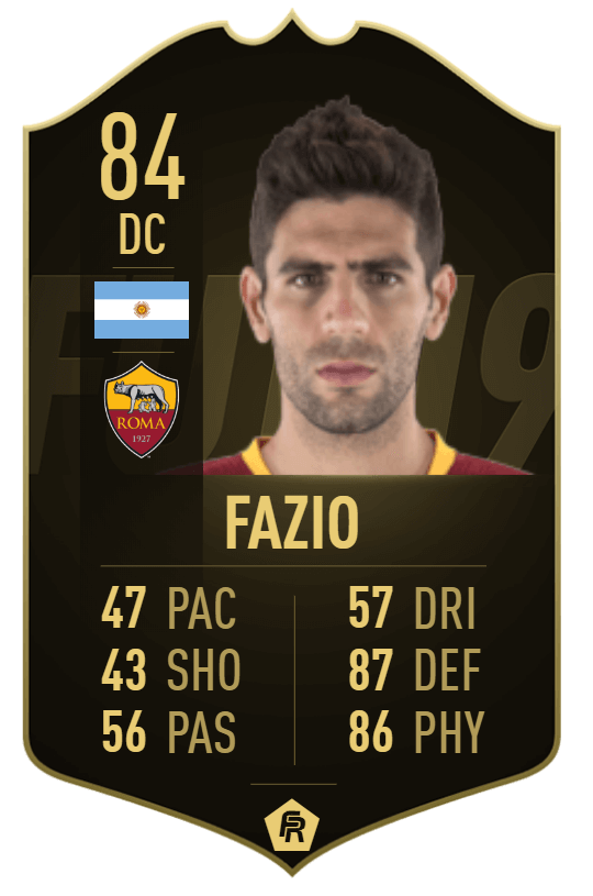 Fazio IF 84 - TOTW 33 prediction