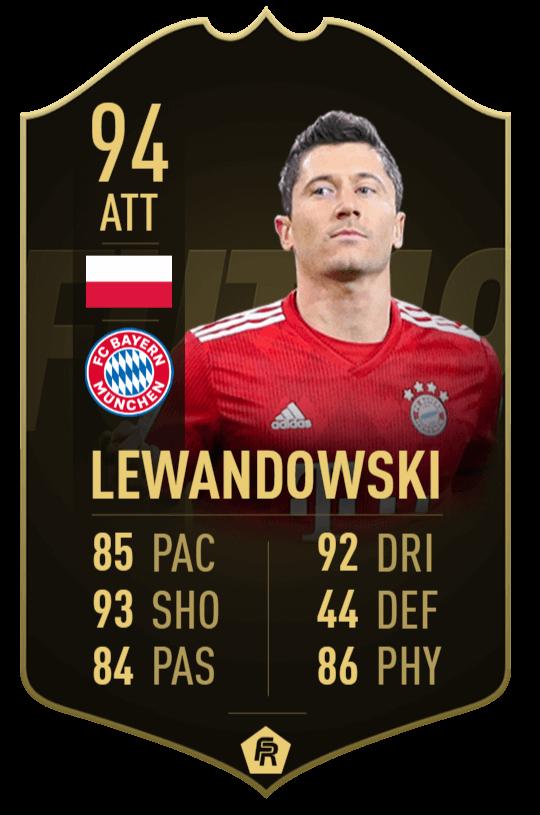 Robert Lewandowski 94 - TOTW 30 prediction