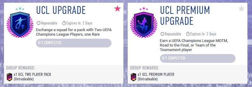 SBC aggiornamento UEFA Champions League e UCL Premium