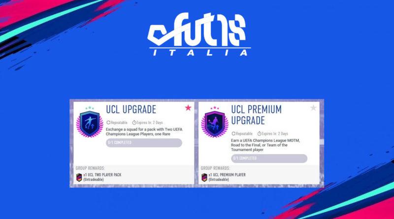 SCR aggiornamento UCL e UCL Premium in FIFA 19