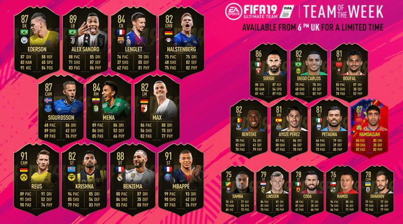 TOTW 32 - FIFA 19 Team of the Week