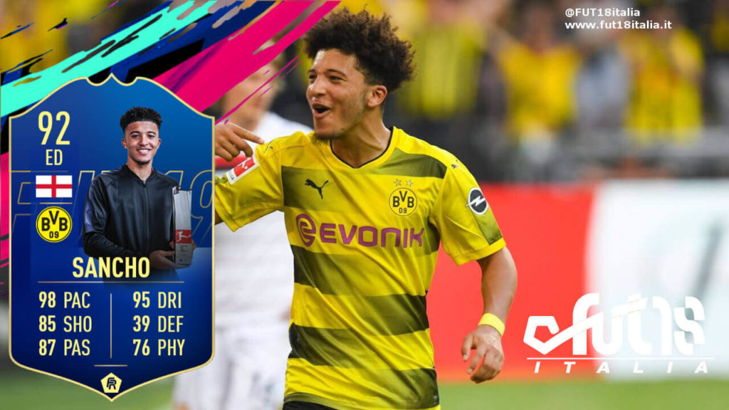 Jadon Sancho TOTS prediction - FIFA 19