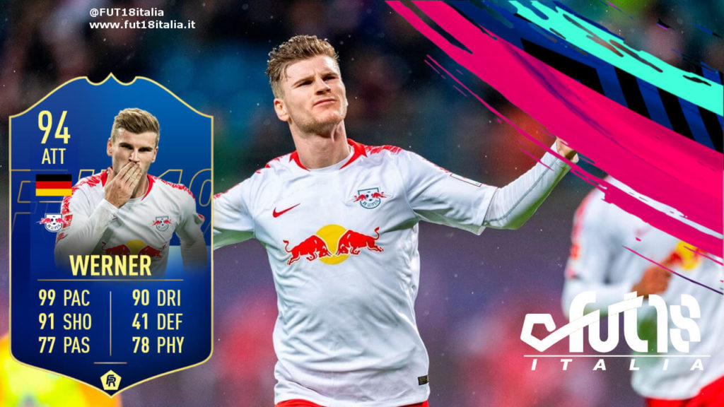 Timo Werner TOTS prediction - FIFA19