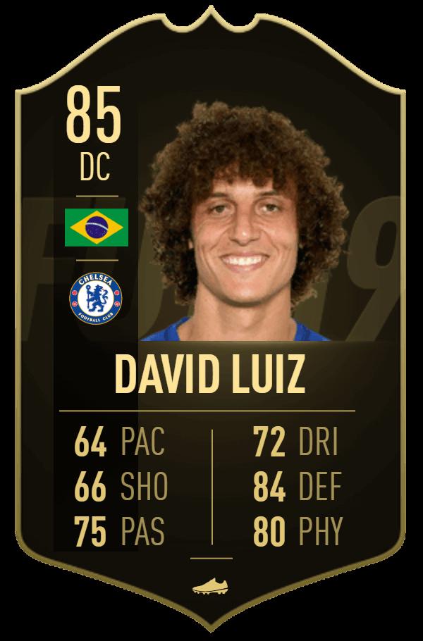 David Luiz IF 85 - TOTW 34 prediction