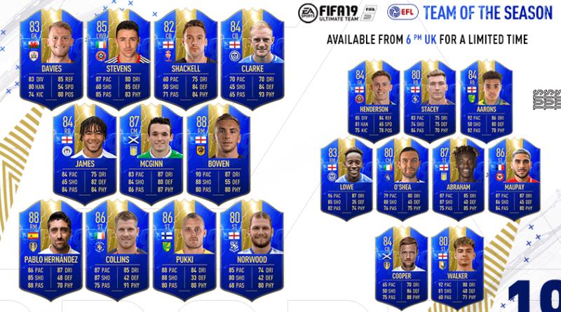 FIFA 19 EFL TOTS