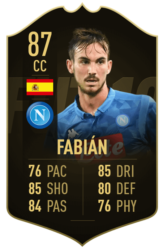 Fabian Ruiz 87 - TOTW 36 prediction