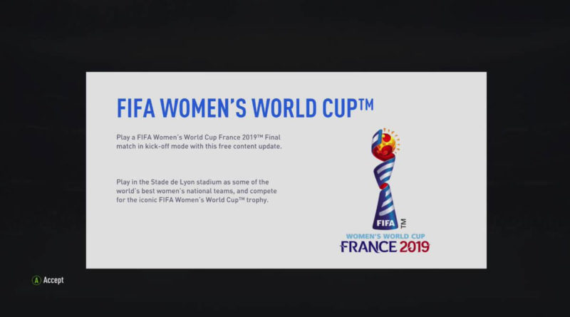 FIFA 19 - Womens World Cup update