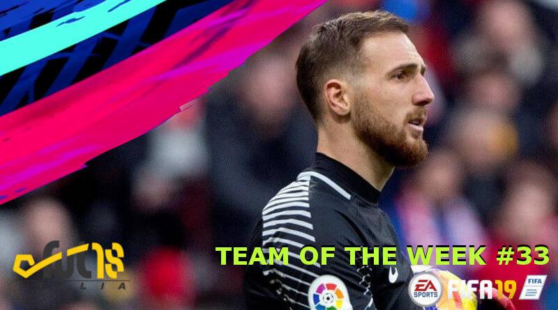 Oblak protagonista del TOTW 33 in FIFA 19