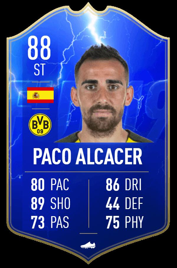 Paco Alcacer 88 TOTS Moments SBC