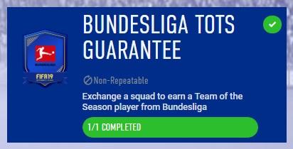 SBC Bundesliga TOTS guarantee