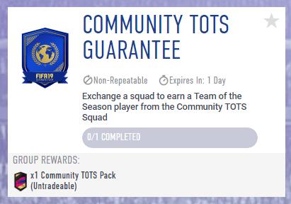 SBC Community TOTS garantito