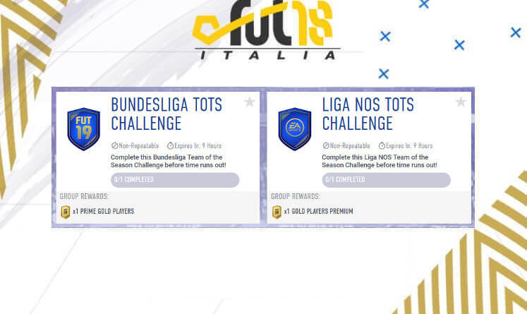 Sfida creazione rosa TOTS Bundesliga e Liga NOS challenge