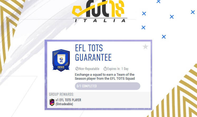 FIFA 19 - SCR TOTS EFL garantito