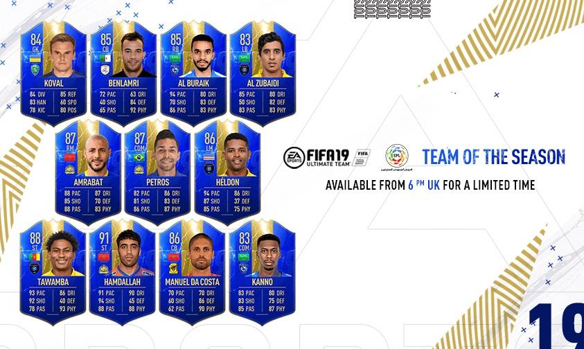 FIFA 19 Saudi PRO League TOTS