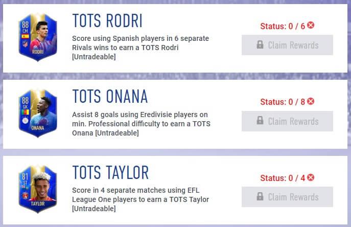 Community TOTS disponibili negli obiettivi settimanali