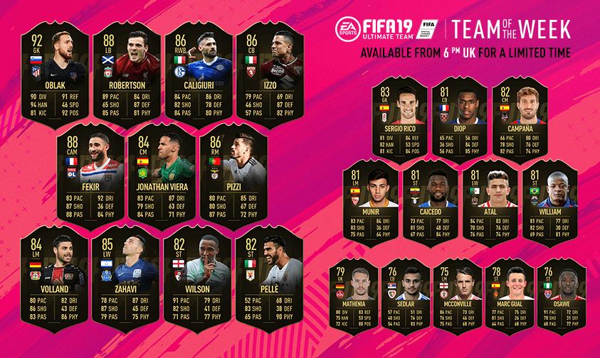 TOTW 33 in FIFA 19