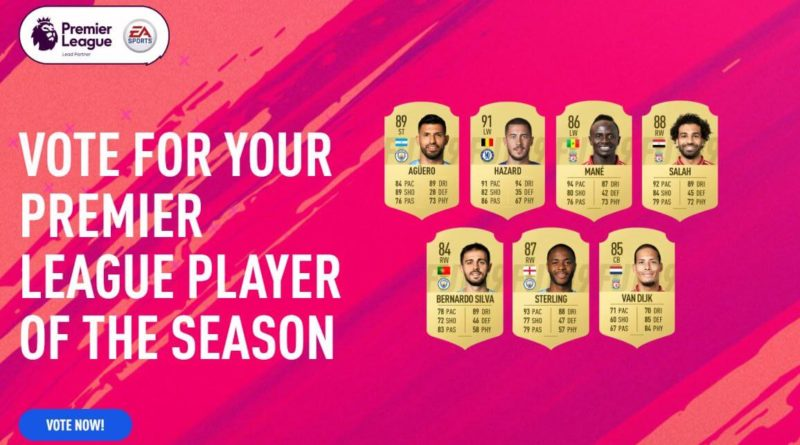 Candidati al Player of the Season in Premier League - FIFA 19