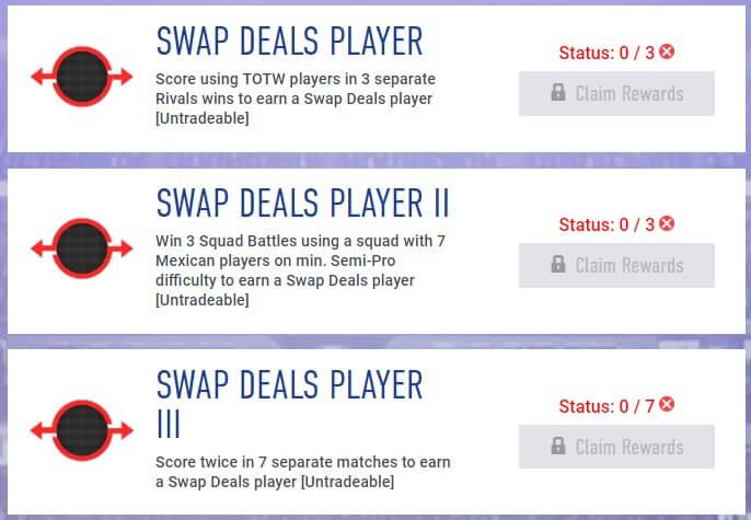 Obiettivi settimanali Swap di maggio