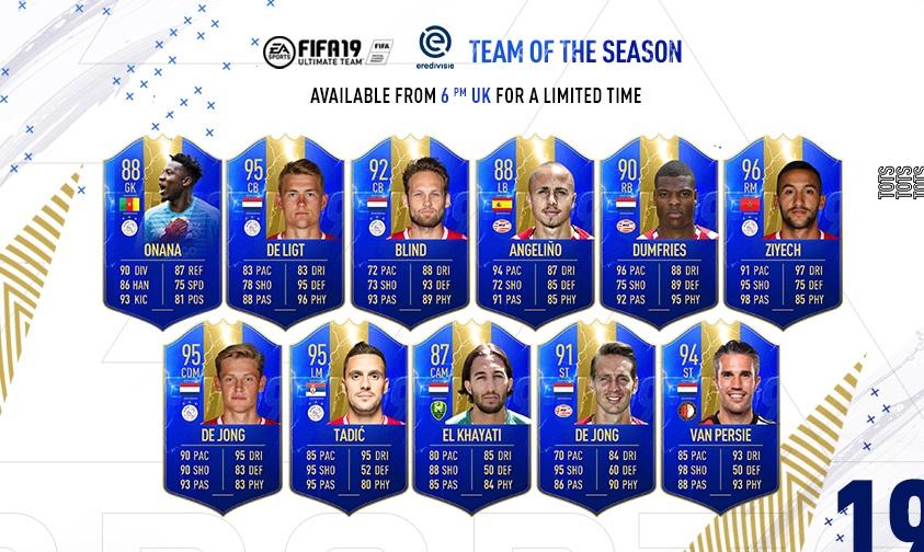 FIFA 19 - TOTS Eredivisie