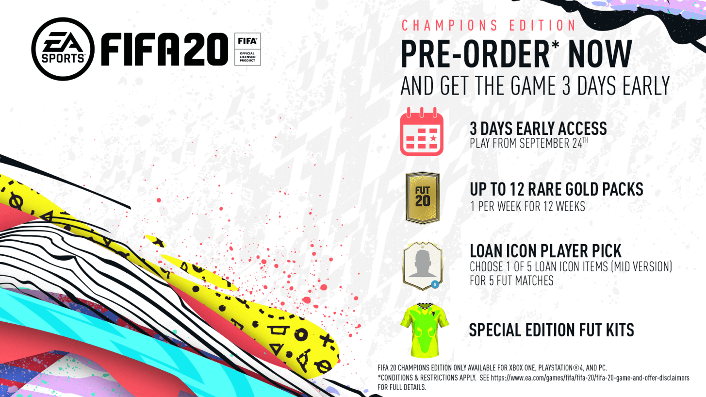 FIFA 20 Champions Edition bonus preorder