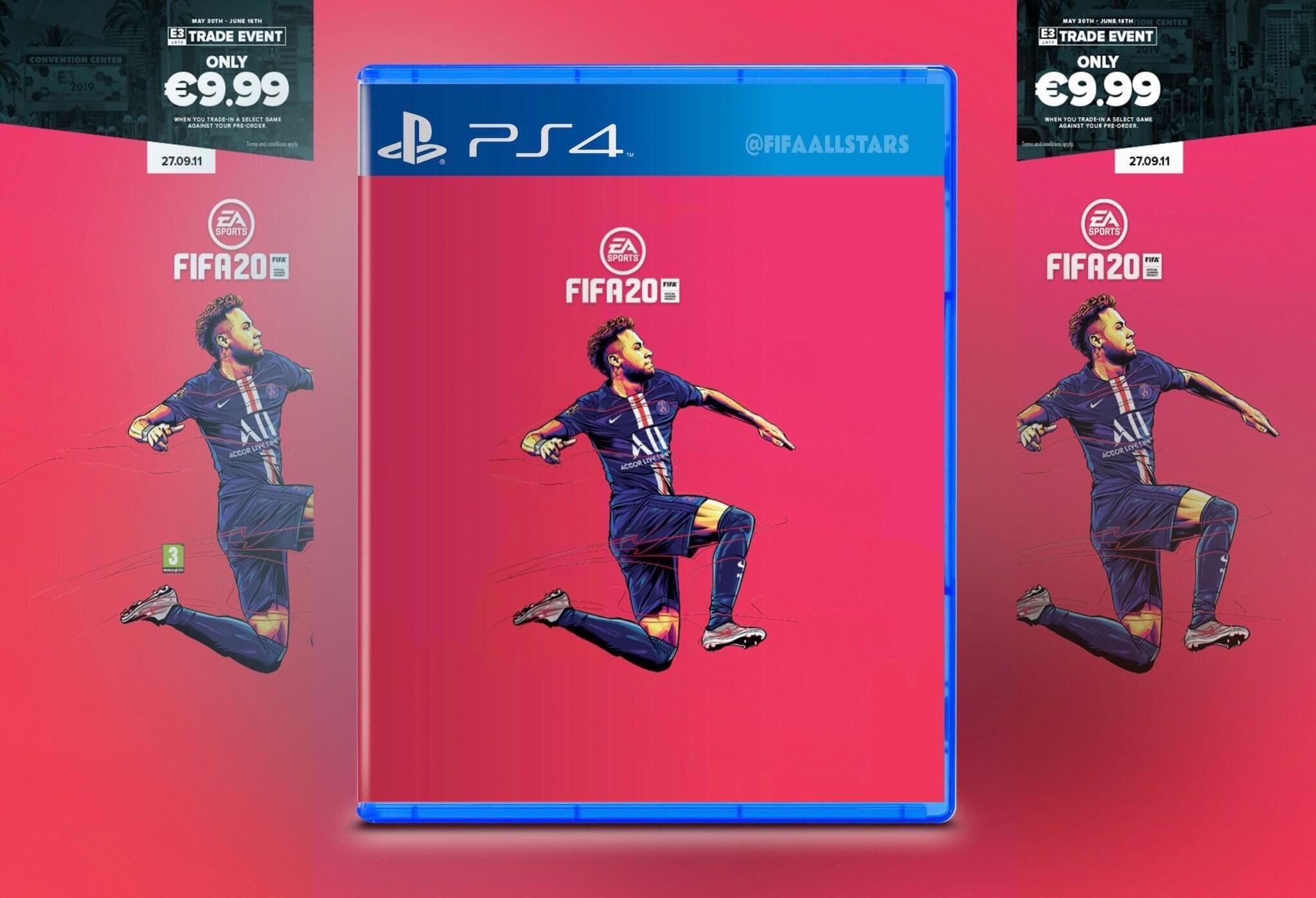 Neymar nella copertina di FIFA 20