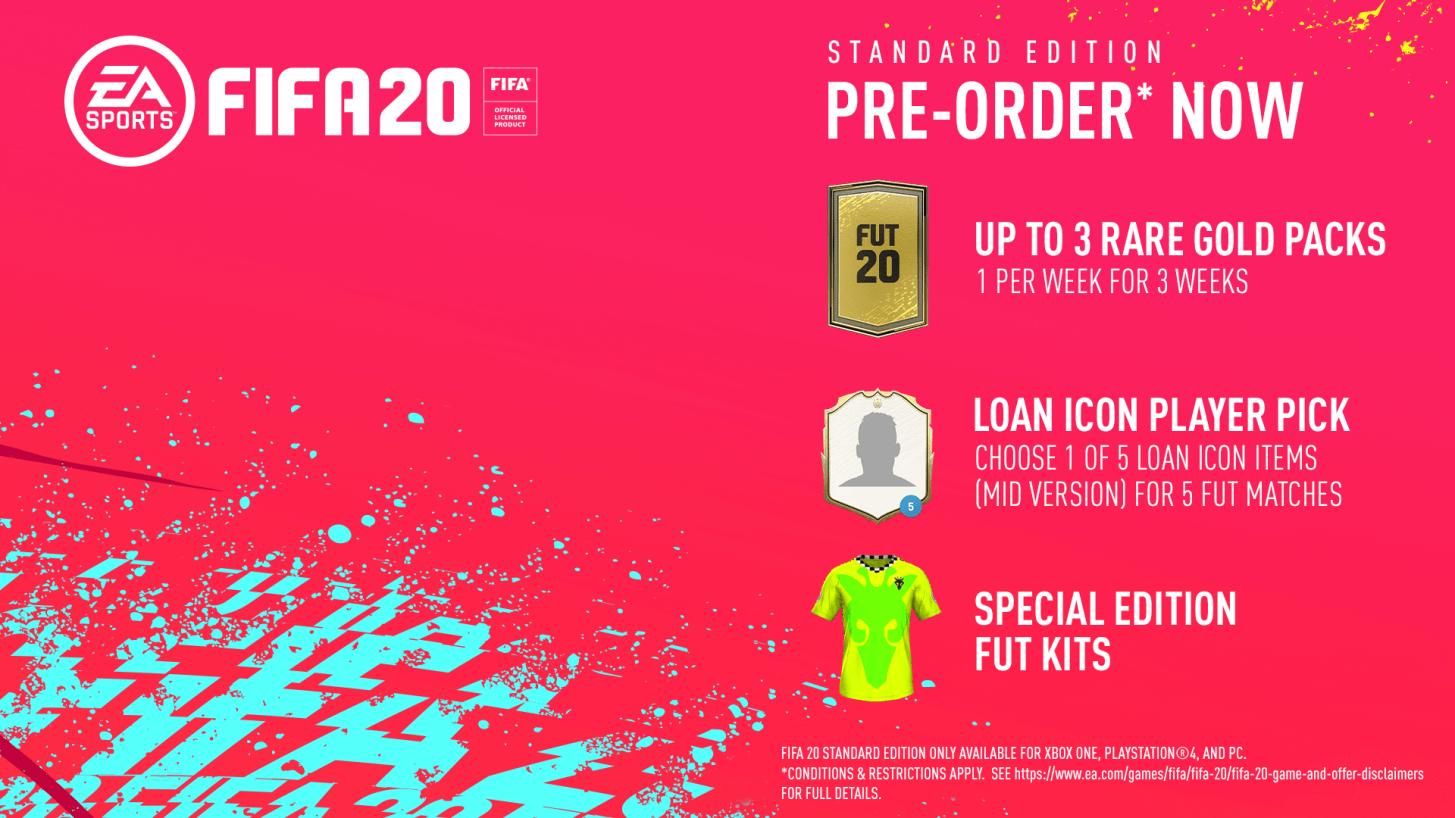 FIFA 20 Standard Edition bonus preorder