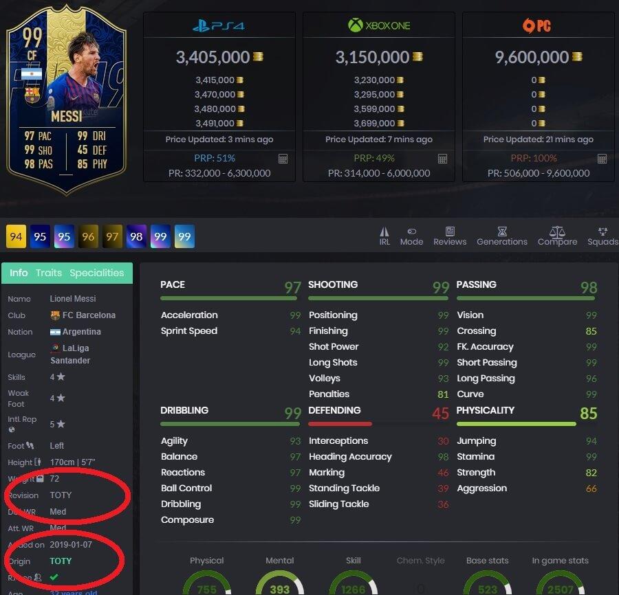 Messi 99 TOTY - FutBin.com