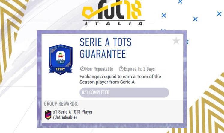 SCR TOTS garantito Serie A Tim