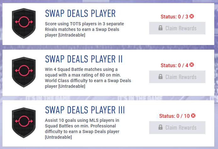 Obiettivi settimanali Swap di giugno