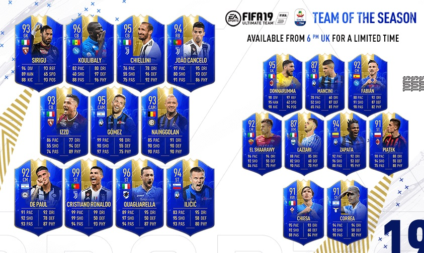 FIFA 19 - TOTS Serie A Tim
