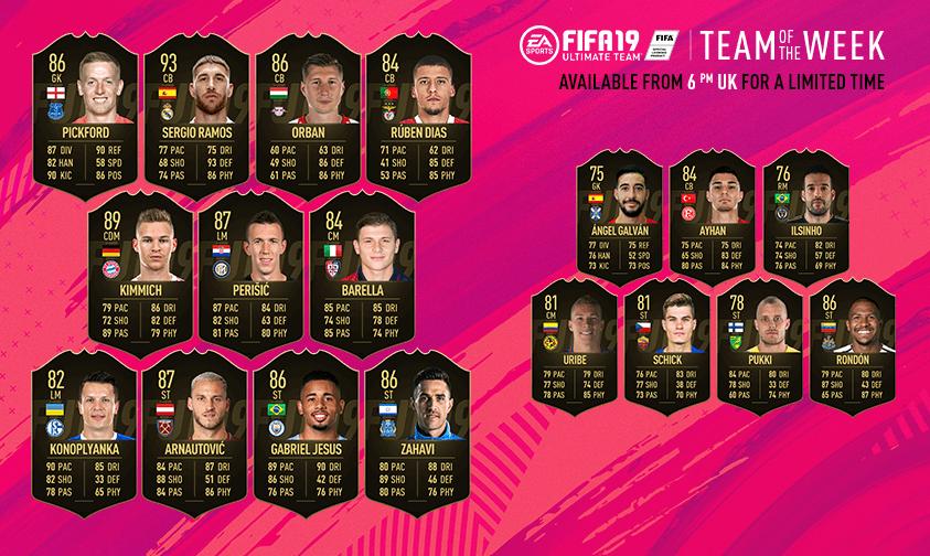 FIFA 19 - TOTW 39