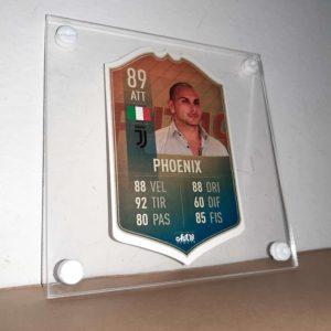 FIFA FUT card personalizzata stampata in plexiglass