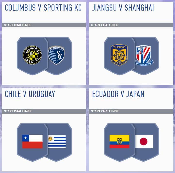 Sfida creazione rosa incontri principali del 20 giugno - FIFA 19