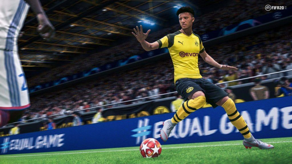 Sancho Borussia Dortmund - FIFA 20 gameplay e IA