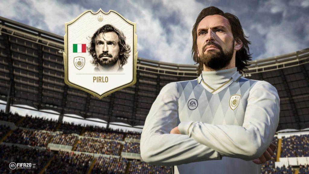 Andrea Pirlo icon in FIFA 20 Ultimate Team
