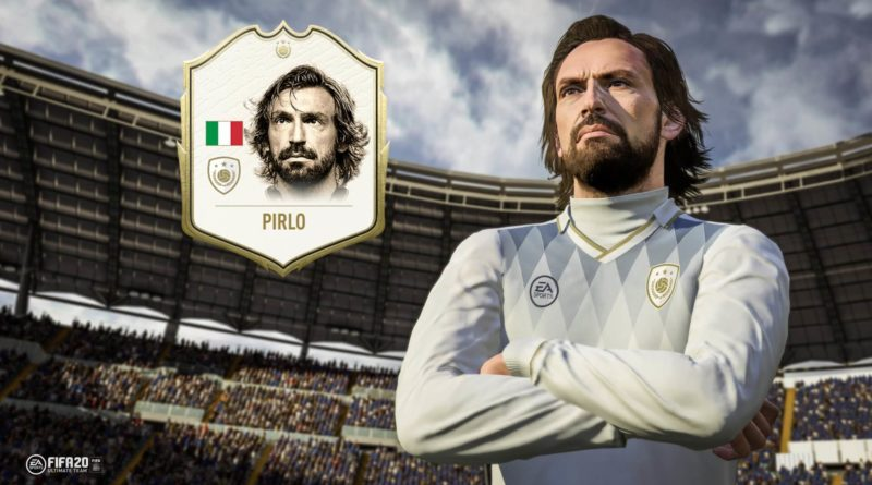Andrea Pirlo icon in FIFA 20 Ultimate Team