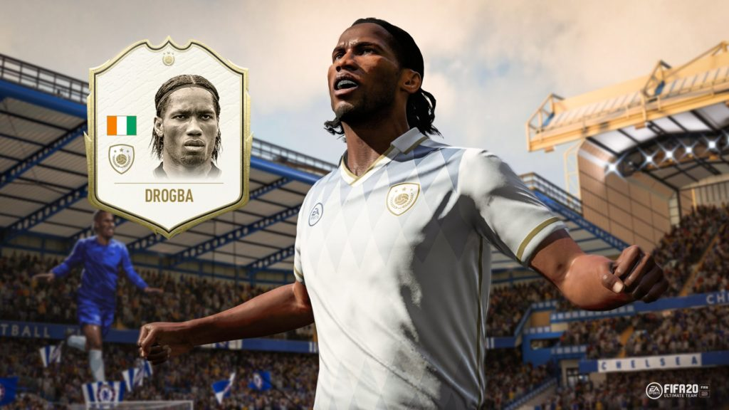 Didier Drogba icon in FIFA 20 Ultimate Team