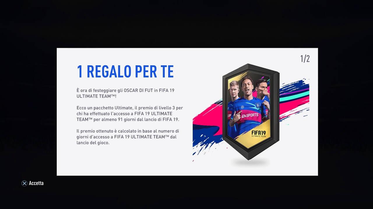 FIFA 19 - Pacchetto omaggio tramite i Futties