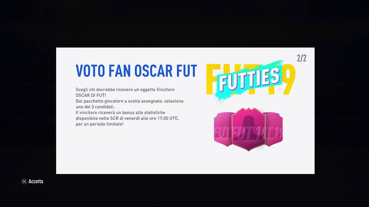 FIFA 19 - Futties, la votazione