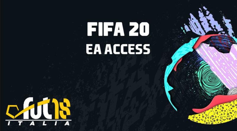 FIFA 20 accesso anticipato con EA Access