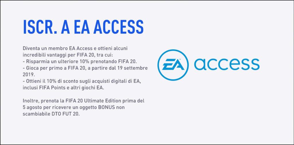 Sconti per il preordine di FIFA 20 con EA Access