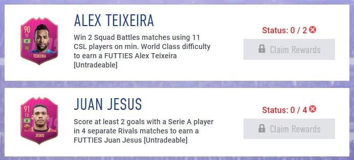 Futties FIFA 19 - Obiettivi settimanali del 2 agosto