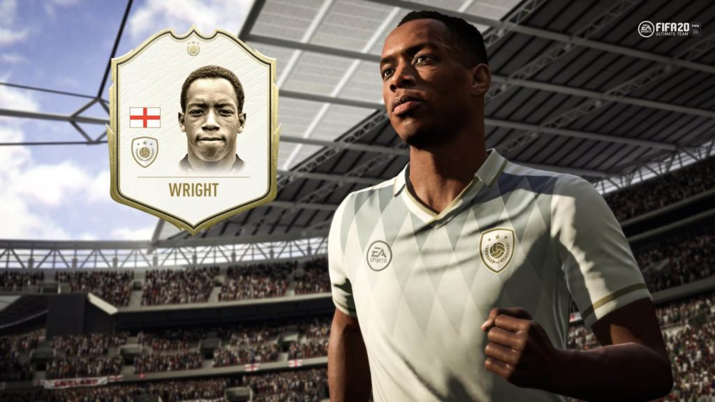 Ian Wright icon in FIFA 20 Ultimate Team