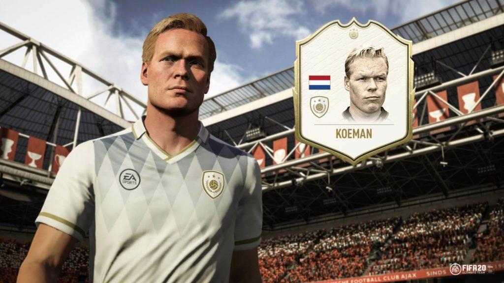 Ronald Koeman icon in FIFA 20 Ultimate Team