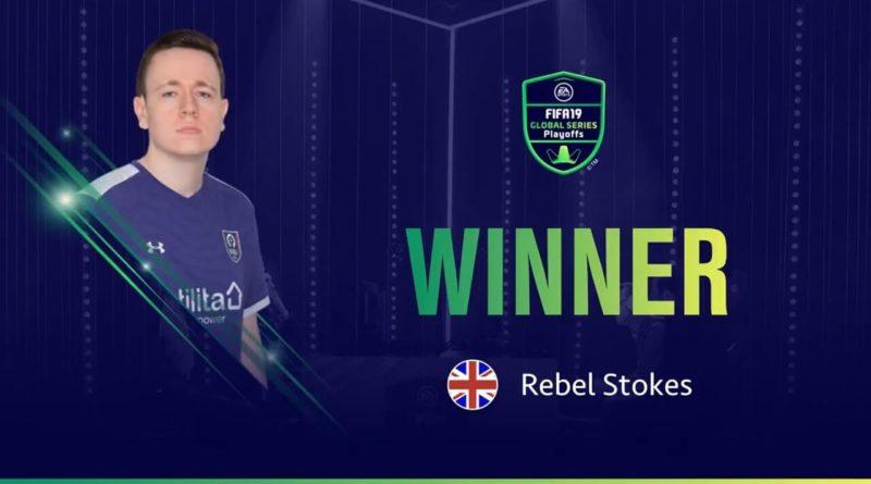 Rebel Stokes vincitore dei playoff XBOX di FIFA 19 ad Amburgo