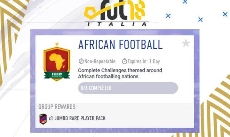 Sfida creazione rosa Calcio Africano