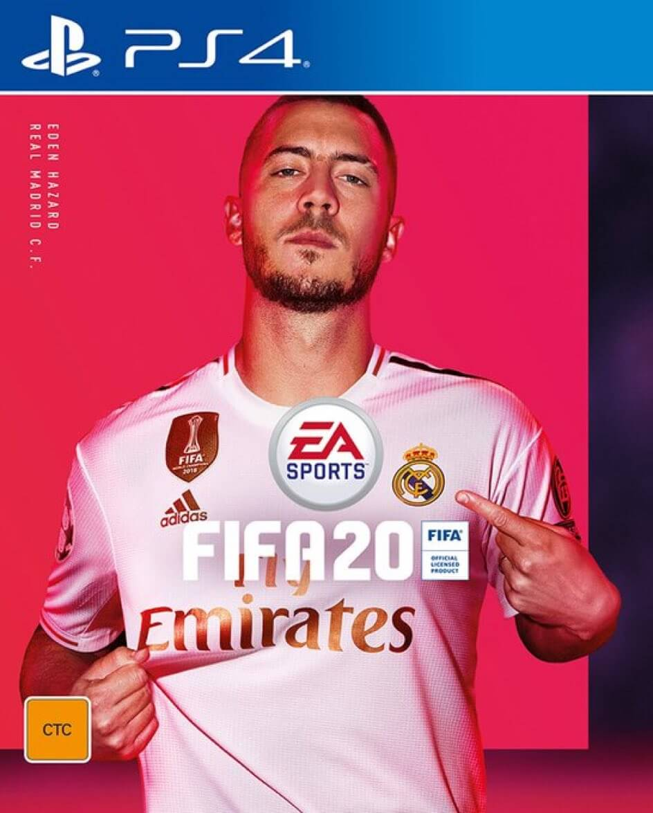 Cover FIFA 20 PS4 con Eden Hazard