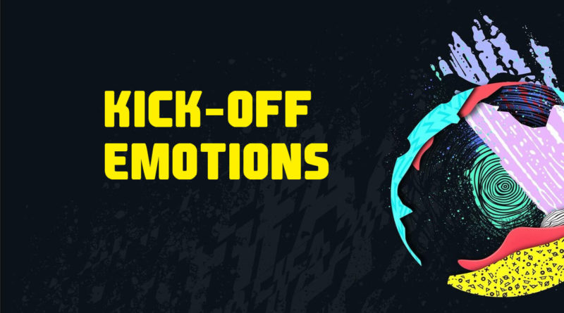 Kick-off emotions in FIFA 20