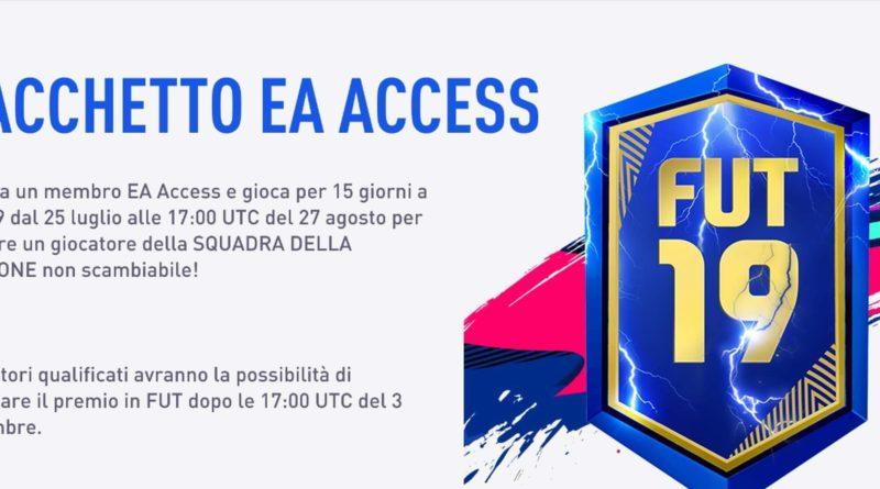 Pacchetto TOTS garantito in regalo con EA Accesso in FIFA 19