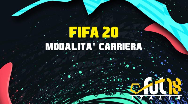 FIFA 20 modalità carriera, tutte le novità